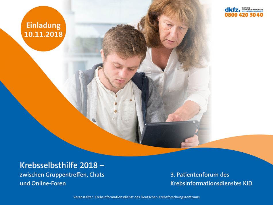 Patientenforum des Krebsinformationsdienstes am 10.11.2018 © Krebsinformationsdienst, Deutsches Krebsforschungszentrum